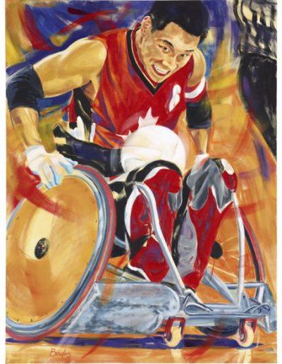 """Ian Chan, 2012, acrylique sur toile, 122 x 91 cm (48"""" x 36"""")"""