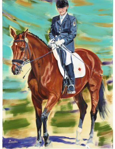 """Lauren Barwick, 2012, acrylique sur toile, 122 x 91 cm (48"""" x 36"""")"""