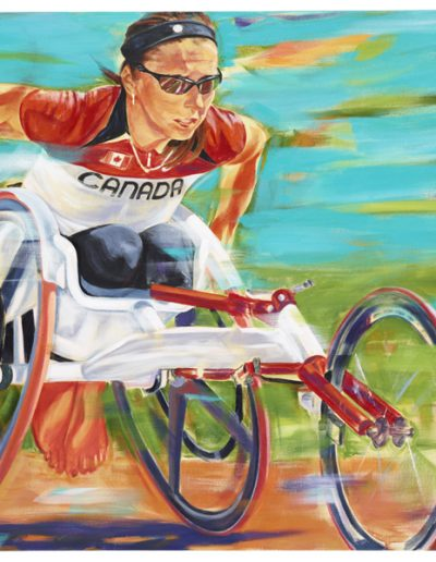 """Michelle Stilwell, 2012, acrylique sur toile, 91 x 122 cm (36"""" x 48"""")"""