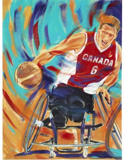 """Pat Anderson, 2012, acrylique sur toile, 122 x 91 cm (48"""" x 36"""")"""