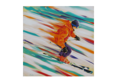 """Zénitude, 2014, acrylique sur toile, 91 x 91 cm (36"""" x 36"""")"""