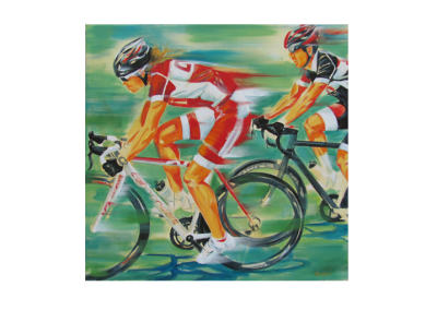 """Vive allure, 2014, acrylique sur toile, 91 x 91 cm (36"""" x 36"""")"""