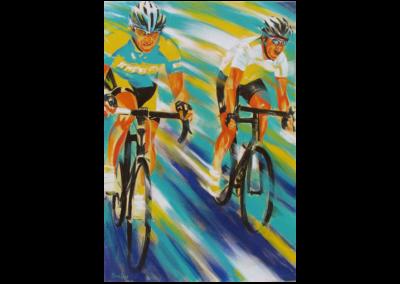 """Puissance partagée, 2014, acrylique sur toile, 91 x 61 cm (36"""" x 24"""")"""
